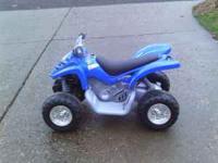 Kids Yamaha battery operated 4 wheeler, works good,