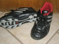 -ADIDAS soccer cleats; black/red; size 13: $9 * -FILA