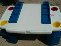 Kids art table with removable containers 15.00 if you