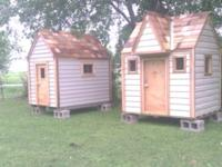 I HAVE A CUSTOM BUILT PLAYHOUSE WITH REAL SIDING IM
