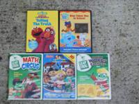 Kids used DVDs, $5 or best offer.  Includes Leap Frog,