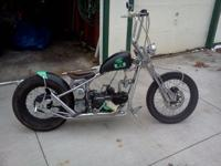 This runs terrific. 110cc electric motor copy of a