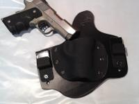 Handmade custom IWB conceal carry leather and kydex
