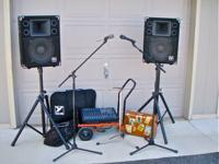 Complete PA system perfect for trio, duo or solo simply