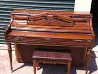 Very nice, older Kimball upright piano in good