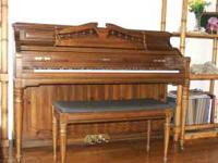 Looking to sell! Great upright piano with matching