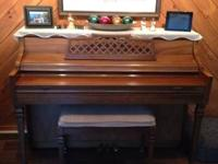Piano needs a new home so it can be played again! Good