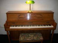 Very nice W. W. Kimball console piano for sale.   Light