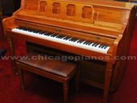 This is Kimball piano, made in America, with a