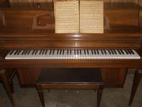 Lovely, older Kimball console piano and matching bench.