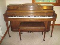 We are selling a Kimball Spinnet Piano. It is in great