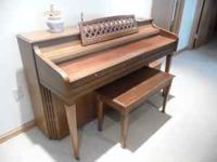 Kimball Spinet piano with matching bench in great