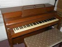 Kimball spinet piano, needs tuned, plays nice but has