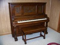 Stunning, aged Kimball piano and bench (serial no.
