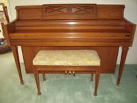 "This is a beautiful walnut Kimball ""Artist Console"""