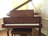 Lovely 1970 Kimball Baby Grand piano and bench,