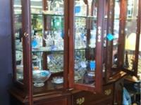 Beautiful cherry Kincaid china cabinet. Great buy at