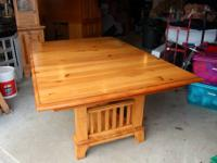 Kincaid Ducks Unlimited Trestle table w/ 7 chairs -
