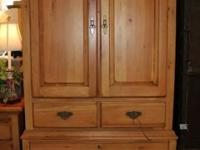 Large pine armoire by Kincaid from their Ducks