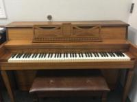 This cute used Kincaid (111649) upright piano is ready
