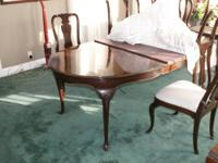 Gorgeous Kindel dining room set. Made in the USA by