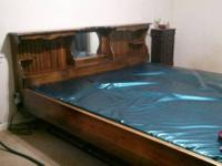 Beautiful California King size water bed w/ storage