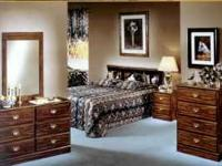 Delivery Available. King bedroom furniture set includes
