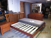 Futon King bedroom set like new. Dresser & mirror, bed