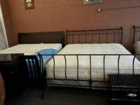 King beds for sale at ideal furniture , metal or wood