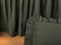 This is a brand new king size bedskirt in olive green