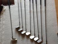 Lightly used golf clubs. King Cobra over-sized. 4 - 9