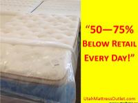 "Utah Mattress Outlet  ""50-75% Off Retail Every"
