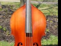 Nice vintage double bass from the very early 1960's.
