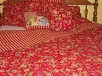 KING RED QUILT SET (can also work on queen sized bed)