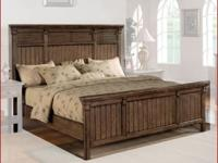 Panel Bed Newberry Contemporary Panel Bed in Antique