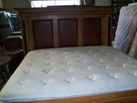 solid wood king size bed. good condition. solid bed .