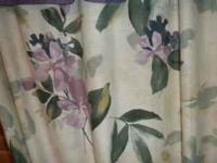 King size comforter, bed skirt, pillow shams and