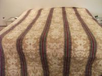 KING BEDSPREAD IN POLY/COTTON FABRIC SO WASHABLE LINING