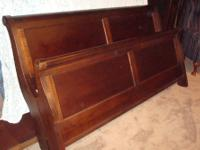 This is a King size bed frame in excellent condition.
