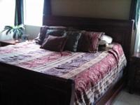 King size comforter with 2 shams and 3 decorative