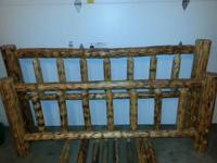 I am offering my king size log bed frame. The bed is 7'