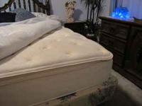 This king size pillow top mattress is like new and is