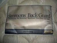 Lightly used 3 year old Simmons Backguard Mattress.