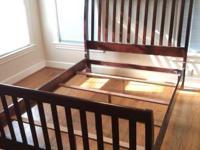 King Size Sleigh Bed, Solid 7 Drawer Dresser/Mirror,