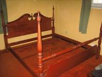 Amish made - solid oak: Bed is king size with bolted