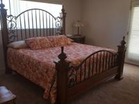 Wood / Rod Iron Bed with Mattress and Box Springs Cost