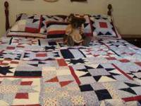 Gently used comes with 1King quilt 2 regular shams 1
