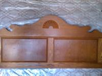 Nice king size head board, frame, box springs and