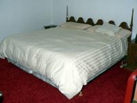 King Size Bed with dresser & night stands Armoire 2