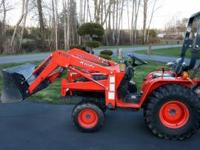 This is a Kioti 4x4 LB1914 with a loader has a total of